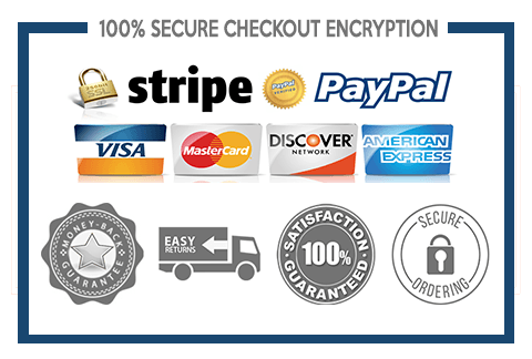 Pay with Credit Card, Debit Card, paypal ad more secure checkouts